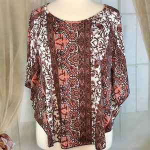 Plus MM Butterfly Sleeved Blouse